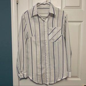 Light weight striped (black) button down shirt